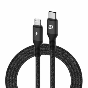 MOMAX Type-C to Lightning 8Pin PD Fast Charging Data Sync Cable MFI Certified 1.2m - Black