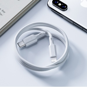 BENKS M13 1.8m PD MFi Certified Type-C to Apple 8-pin Lightning Cable TPE Data Sync Charging Cord - White