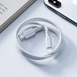 BENKS M13 1.2m PD MFi Certified Type-C to Apple 8-pin Lightning Cable TPE Data Sync Charging Cord - White