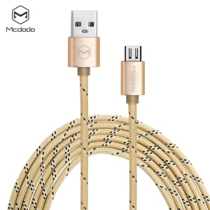 MCDODO CA-1140 1M Android Braided Wire Data Charging Line - Gold