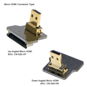 CYFPV Micro HDMI Type D Male Up Angled 90 Degree for FPV HDTV Multicopter Aerial Photography