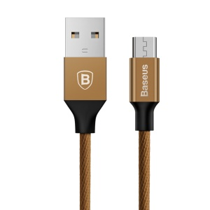 BASEUS Yiven Micro USB Data Sync Charging Cable for Samsung S7, etc. (1.5m) - Coffee