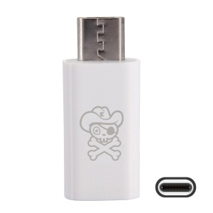 HAT PRINCE Mini USB 3.1 Type-C to Micro USB Converter Adapter (HC-5) - White