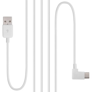 Type C USB-C to USB 2.0 Cable Right Angled 90 Degree Connector for Tablet & Mobile Phone - White