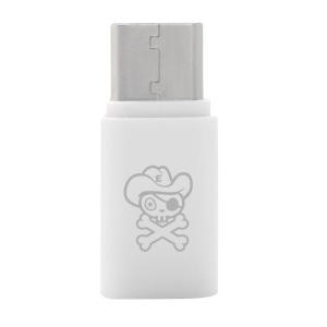 HAT PRINCE ABS Super Mini Micro USB Female to USB 3.1 Type-C Male Converter Adapter for Huawei Mate 9 - White