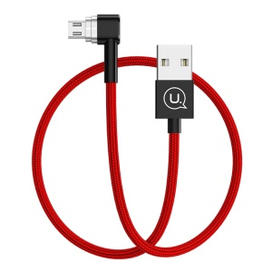 USAMS US-SJ149 Braided Micro USB Magnetic Data Sync Charge Cable for Samsung HTC Huawei Etc.