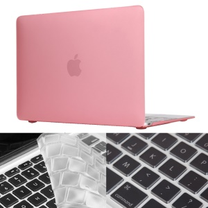 HAT PRINCE Matte Plastic Case + TPU Keyboard Film for MacBook 12-inch with Retina Display(2015) - Pink