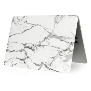 Marble Pattern Plastic Case for MacBook Air 11.6-inch - Grey / White