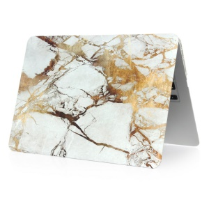 Marble Pattern Snap-on Hard Case for MacBook Air 11.6-inch - Gold Color / Grey
