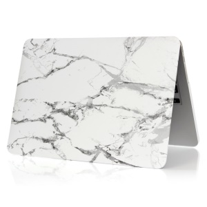 Marble Pattern Hard Shell Cover for Apple MacBook 12-inch - Grey / White