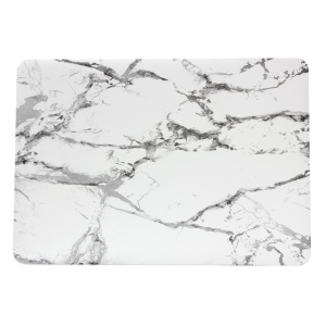 Marble Pattern Plastic Case Cover for Macbook Air 13.3 Inch - Grey / White
