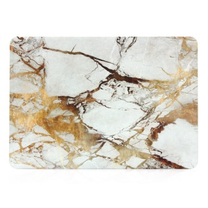 Marble Pattern Plastic Hard Cover for Macbook Air 13.3 Inch - Gold / Grey