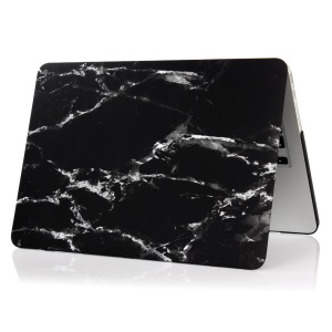 Marble Pattern Hard Case for Macbook Pro 13.3 with Retina Display - White / Black