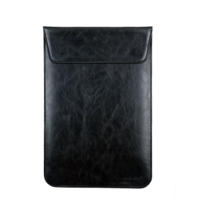 J.M.SHOW Vertical Leather Pouch for MacBook Air 11.6-inch, Size: 314 x 213mm - Black