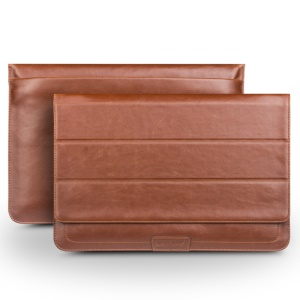 QIALINO High Quality PU Leather Bag Pouch for MacBook 12-inch with Retina Display (2015) - Brown