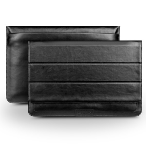 QIALINO Genuine Leather Pouch Bag for Macbook Pro Air 13.3 - Black