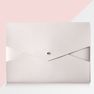 Envelope Style Ultr-thin Leather Sleeve Pouch Bag Handbag for Macbook Air 11 Inch - White