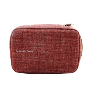 BASEUS Easy-going Series Simple Design Storage Bag for Phone/Power Bank/Hard Disk etc - Red