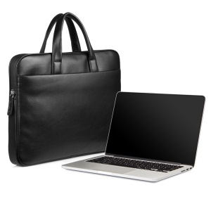 QIALINO Genuine Cowhide Leather Laptop Bag Carrying Case for Macbook Pro 13.3 Inch