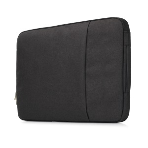 Jeans Cloth Fashionable 11.6-inch Notebook Bag Pouch with Handle - Black