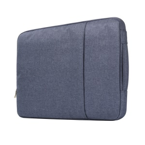 Chic Jeans Cloth Fashionable 15.4-inch Notebook Bag Pouch Cover with Handle - Dark Blue