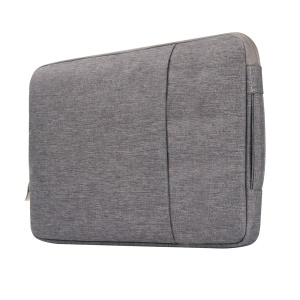 Jeans Cloth Fashionable 13.3-inch Notebook Bag Pouch Cover with Handle - Grey