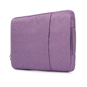 Jeans Cloth Ultra-thin 13.3-inch Notebook Handbag Laptop Bag with Handle - Purple