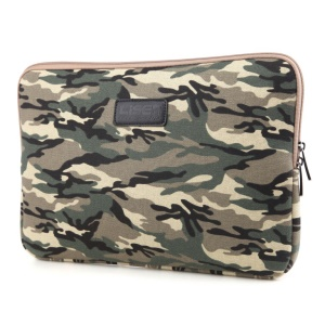 LISEN 13 inch Cool Camouflage Laptop Sleeve Bag Case, Size: 34.5 x 24.5 x 2 cm - Brown
