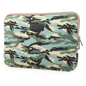 LISEN 13 inch Cool Camouflage Laptop Sleeve Bag Cover, Size: 34.5 x 24.5 x 2 cm - Green