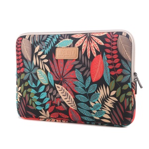 LISEN Colorful Leaves Laptop Sleeve Bag Case for iPad 9.7/iPad Air etc, Size: 27 x 21 x 1.5cm - Black