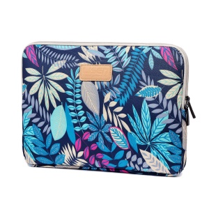 LISEN Colorful Leaves Laptop Sleeve Protective Case for MacBook 12-inch/11-Inch etc, Size: 31 x 21.5 x 1.5cm - Blue
