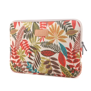 LISEN Colorful Leaves Laptop Sleeve Pouch for iPad mini, Size: 22 x 15.5 x 1.5cm - White