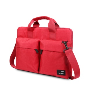 CARTINOE 15.4-inch Anti-RFID Polyester Laptop Pouch Messenger Bag, Size: 390 x 290 x 30mm - Red