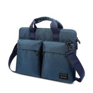 CARTINOE 15.4-inch Anti-RFID Polyester Notebook Carrying Bag Sling Bag, Size: 390 x 290 x 30mm - Blue