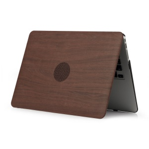 """Wood Texture Leather Coated PC Protection Case for MacBook Pro 13.3"""" 2016 A1706 (Touch Bar) / A1708 (without Touch Bar) - Coffee"""