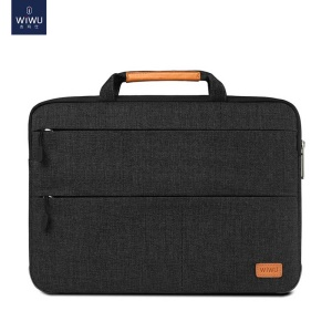 WIWU Waterproof Shockproof Stand Nylon Sleeve Pouch Handbag for 13 inch Laptops/Tablets - Black