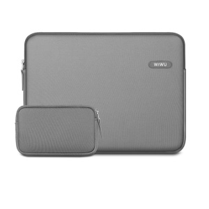 WIWU Classic Liner Bag Shockproof Lycra Fabric Pouch Case for 13-inch Tablet/Laptop - Grey