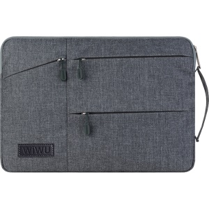 WIWU Travel Sleeve Waterproof Protective Bag with Handle for 13.3-inch Laptop - Grey
