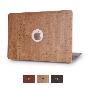 Vivid Wood Leather Skin Hard Shell pour Macbook Pro 13.3 avec Retina Display - sable
