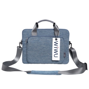 WIWU Shockproof Waterproof Multi-functional Oxford Pouch Handbag for 13 inch Laptops/Tablets - Blue