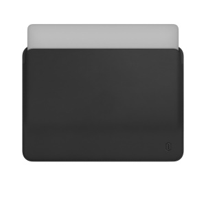 WIWU Skin Pro Series Super Thin PU Leather Protective Sleeve Bag for 12-inch MacBook - Grey