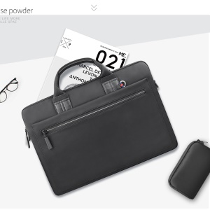 WIWU Athena Campus Slim Case Laptop Bolsa Para Tablet De 14 Polegadas / Laptop - Preto