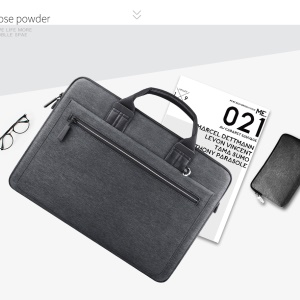 WIWU Athena Portable Slim Laptop Bag with Small Bag for 14-inch Tablet/Laptop - Dark Grey