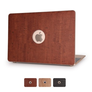 Wood Grain Leather Skin Hard Shell for MacBook Pro 13.3 Inch - Brown