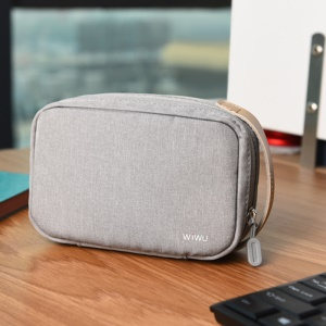 WIWU Portable Nylon Organizer Cases Cozy Storage Bag 7.8 inch - Grey