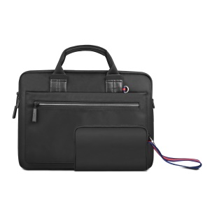WIWU Athena Campus Slim Case Portable Laptop Bag + Small Bag Set for 15.6-inch Laptop - Black