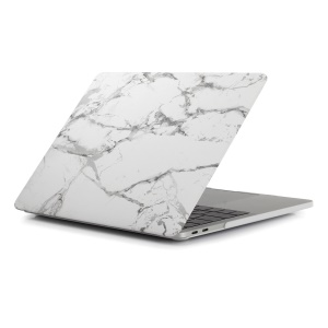 Patterned PC Protective Cover for MacBook Air 13.3 inch A1932 (2018) / Air 13.3 inch with Retina Display (2018) - Marble Pattern / Dark Grey