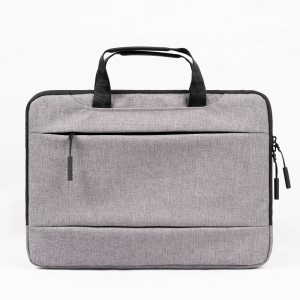 POFOKO Businesses Style Laptop Bag with Concealable Handle for 15.6 inch Laptop, Size: 385 x 263 x 27mm - Grey