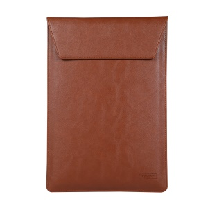 Universal PU Leather Laptop Case [Size 36x26cm] for 15-inch Laptop - Brown