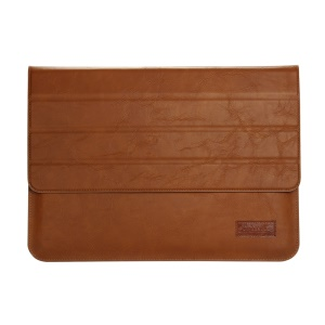OATSBASF Genuine Leather Laptop Sleeve Pouch for Macbook Air/Pro 13.3 -     Brown